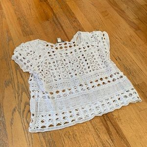 Lauren Conrad white knitted top